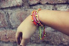 Items similar to Stacking Friendship Bracelets Golden Beads - Set of 3 Macrame Bracelets on Etsy Macrame Bracelets, Friendship Bracelets, I Shop, Delicate, Beads, Etsy, Jewelry, Beading, Bead