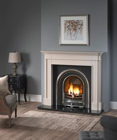 Terrific No Cost victorian Fireplace Remodel Suggestions Hartwood Mantel in Cambridge Clay with the Wandsworth Highlight Arch and Gas Fire. Gas Fireplace Ideas Living Rooms, Front Room, Home Fireplace, Snug Room, New Living Room, Victorian Fireplace, Fireplace, Lounge Design, Victorian Living Room