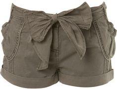Petites Mink Washed Shorts - Miss Selfridge - Polyvore