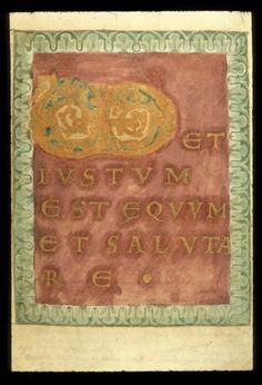 BL Harley 2908 f. Ottonian, Carolingian, Library Catalog, British Library, Illuminated Manuscript, Initials