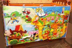 Купить Развивающий мульт-бортик на детскую кроватку - развивающая игрушка, развитие мелкой моторики