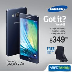 Samsung ‪#‎GalaxyA5‬.. perfect for work & play!  Got it?