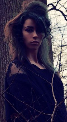Witch inspired fashion shoot. Hair makeup and photo