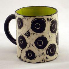 Circles Mug by Wendy Gingell