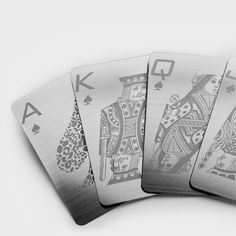 Stainless Steel Playing Cards. That'd be a serious game of spades!