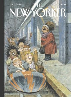 "The New Yorker - Monday, December 11, 2006 - Issue # 4195 - Vol. 82 - N° 42 - Cover ""Rush Hour"" by Peter de Sève"