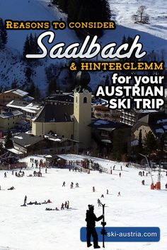 The expanding ski area of the Saalbach-Hinterglemm SkiCircus also now includes the neighbouring resorts of Fieberbrunn and Leogang. Ski Austria, Austria Travel, Austrian Ski Resorts, Top Hotels, The Province, Salzburg, Winter Holidays, Travel Posters, Skiing