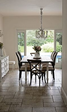 French farmhouse style dining room with budget decorating ideas