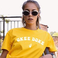 93357cbc2 Okee Doke Tee / womens graphic tees / 70s 60s retro t shirt / vintage style  shirts hippie flower child okie dokee shirt