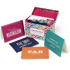 Jonathan Adler Stepped Diamonds All Occasion Note Card Set