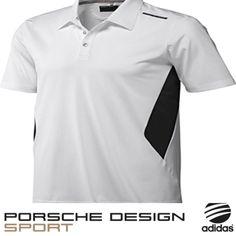 fe5b555c3ea Porsche Design Sport by adidas Golf Oncourse Polo Shirt White  Black BNWT  X12524