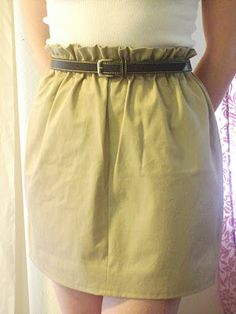 Adventures in Dressmaking: The Super Easy Paper Bag Waist Skirt Tutorial