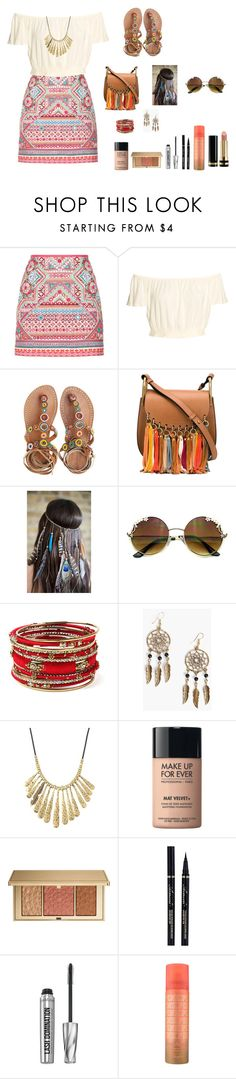 """Untitled #594"" by eliasc ❤ liked on Polyvore featuring Accessorize, Laidback London, Chloé, Amrita Singh, Boohoo, Lucky Brand, MAKE UP FOR EVER, Estée Lauder, Bare Escentuals and Gucci"