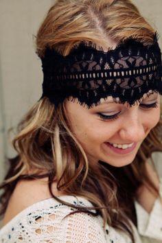 Black Lace Headband by BglorifiedBoutique on Etsy