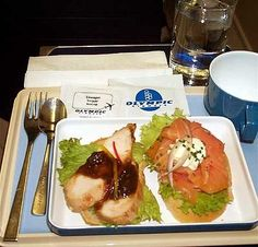 Olympic Airways cold meal for flights less than two hours duration Olympic Airlines, European Airlines, Air Lines, Jet Plane, Cold Meals, Grubs, Olympics, Greece, Beef