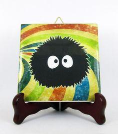 Totoro decor  Spirited Away SOOT SPRITES Ceramic by TerryTiles2014