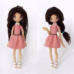 Made by Mint Bunny Crochet Food, Cute Crochet, Beautiful Crochet, Crochet Baby, Knitted Dolls, Crochet Dolls, Crochet Doll Pattern, Crochet Patterns, New Dolls