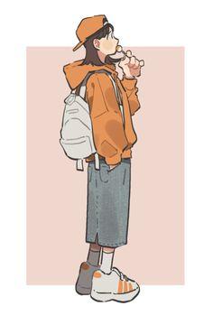 33 New Ideas For Digital Art Girl Anime Drawings Art And Illustration, Character Illustration, Art Illustrations, Cute Art Styles, Cartoon Art Styles, Cartoon Kunst, Dibujos Cute, Digital Art Girl, Character Drawing