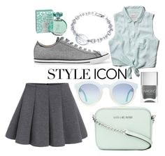 """""""Summer"""" by chaymaag on Polyvore featuring Abercrombie & Fitch, Converse, Nails Inc., MICHAEL Michael Kors, maurices and Tiffany & Co."""