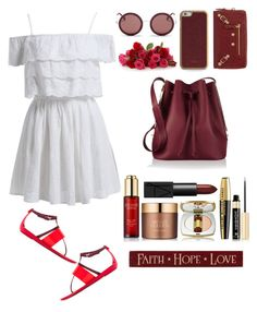 """""""Untitled #28"""" by rannymarcella ❤ liked on Polyvore featuring Balenciaga, Sergio Rossi, Sophie Hulme, ID-INFINITE, The Row, DutchCrafters, Estée Lauder, Yves Saint Laurent, L'Oréal Paris and NARS Cosmetics"""