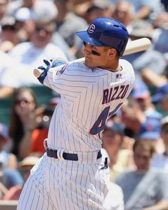 Anthony Rizzo of the Chicago Cubs takes a swing during the game against the New York Mets at Wrigley Field - #MLB #Cubs #ChicagoCubs -  http://www.fansedge.com/Anthony-Rizzo-Chicago-Cubs-6272012-_389127797_PD.html?social=pinterest_7212_mlb_rizzo2
