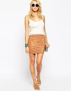 Image 1 ofASOS Mini Skirt In Faux Suede