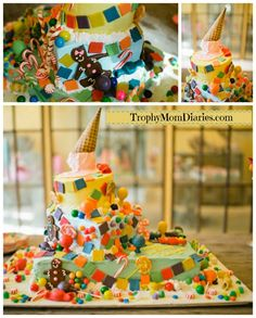 the perfect candy land themed birthday cake #birthday #candy #candyland
