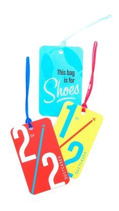 Flight 001 Shoe Luggage Count Tag Set