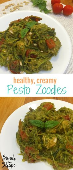 This delicious and healthy pesto zoodles recipe is the perfect low carb dinner idea. It's also full of sneaky veggies and healthy fats!