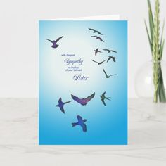 Loss Of Son, Loss Of Mother, Child Loss, Expressions Of Sympathy, Deepest Sympathy, Bird Boxes, Bird Cards, Daughter Of God, Flying Birds