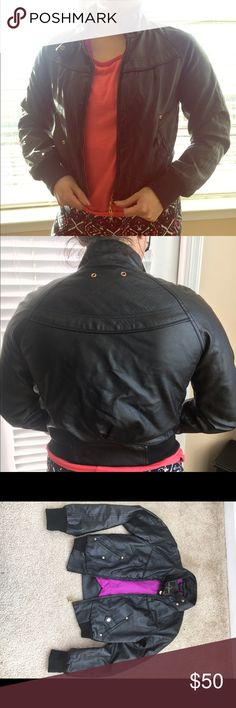 Baby Phat leather jacket New without tag. In great condition. Price is negotiable, please make me an offer! Baby Phat Jackets & Coats