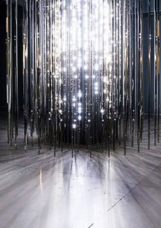 Installation by Leo Villareal - Light Show at the Hayward Gallery, Southbank Centre, Belvedere Rd, City of London, London, SE1 8XX.