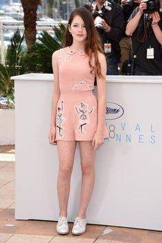 Mackenzie Foy in Red Valentino - Cannes Film Festival 2015 | Harper's Bazaar