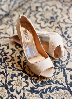 Badgley Mischka Shoes. Also gorgeous. I think I would love all the girls in nude shoes