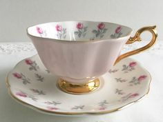 Pink Royal Albert China Tea cup and Saucer by TheEclecticAvenue