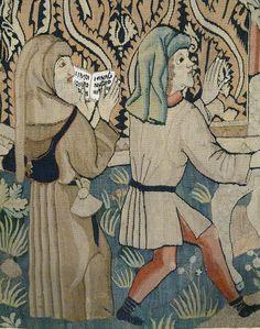 Прием мощи святого Adelphus в Neuwiller |! Flickr - Photo Sharing Historical Clothing, Men's Clothing, Medieval Tapestry, Medieval Costume, Medieval Times, Effigy, 15th Century, Pilgrim, Tapestries
