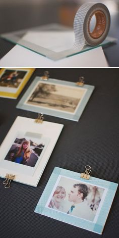 Washi Tape - Using washi tape on glass photo frames