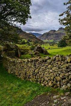 Langdale valley, Lake District, England byBardsea Photography