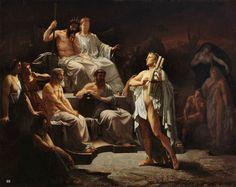 Orpheus in the Underworld. 1863.  Jacquesson de la Chevreuse. French 1839-1903. oil/canvas. 1865 entry -The Prix de Rome.