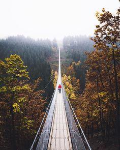 """* """"Geierlay"""" suspension bridge near Koblenz"""