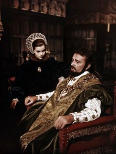 ANNE OF A THOUSAND DAYS ~ Anne Boleyn (played by Genevieve Bujold) and Henry VIII (played by Richard Burton.