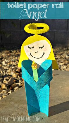 toilet paper roll angel craft