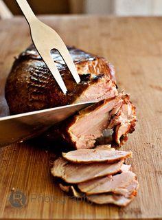 Maple brined, Applewood smoked turkey