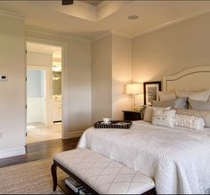 Sherwin Williams - Divine White.  Normally like more color but this is lovely and serene.