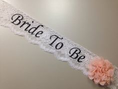 Lace Bachelorette Sash - Lace Bridal Shower Sash - Basic Lace ***Design Your Own Sash*** Bridal Shower Party, Bridal Shower Decorations, Bridal Showers, Bridal Luncheon, Best Friend Wedding, Our Wedding, Wedding Ideas, Wedding Planning, Dream Wedding