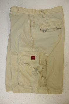 Quiksilver Tactical Yellowed Hybrid Boardshorts Cargo Shorts Mens 36 Nylon 2817 #Quiksilver #CargoShorts #Hybrid #BoardShorts