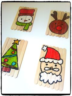 jouet de noel, puzzle, bricolage batonnets en bois, activité de noel, enfant