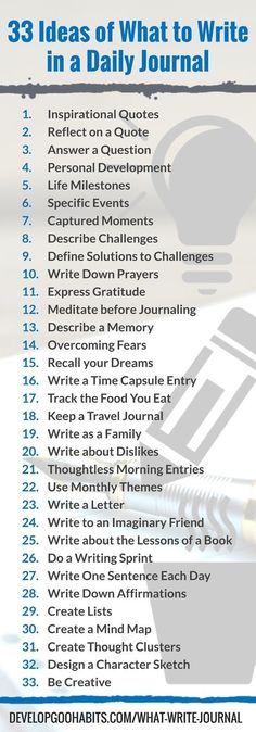 33 ideas for writing about the day