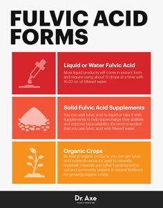 Fulvic acid forms - Dr. Axe http://www.draxe.com #health #holistic #natural