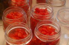 Canning diced tomatoes - I tried this last year for the first time and it was EASY.  I will definitely be doing it again this year.